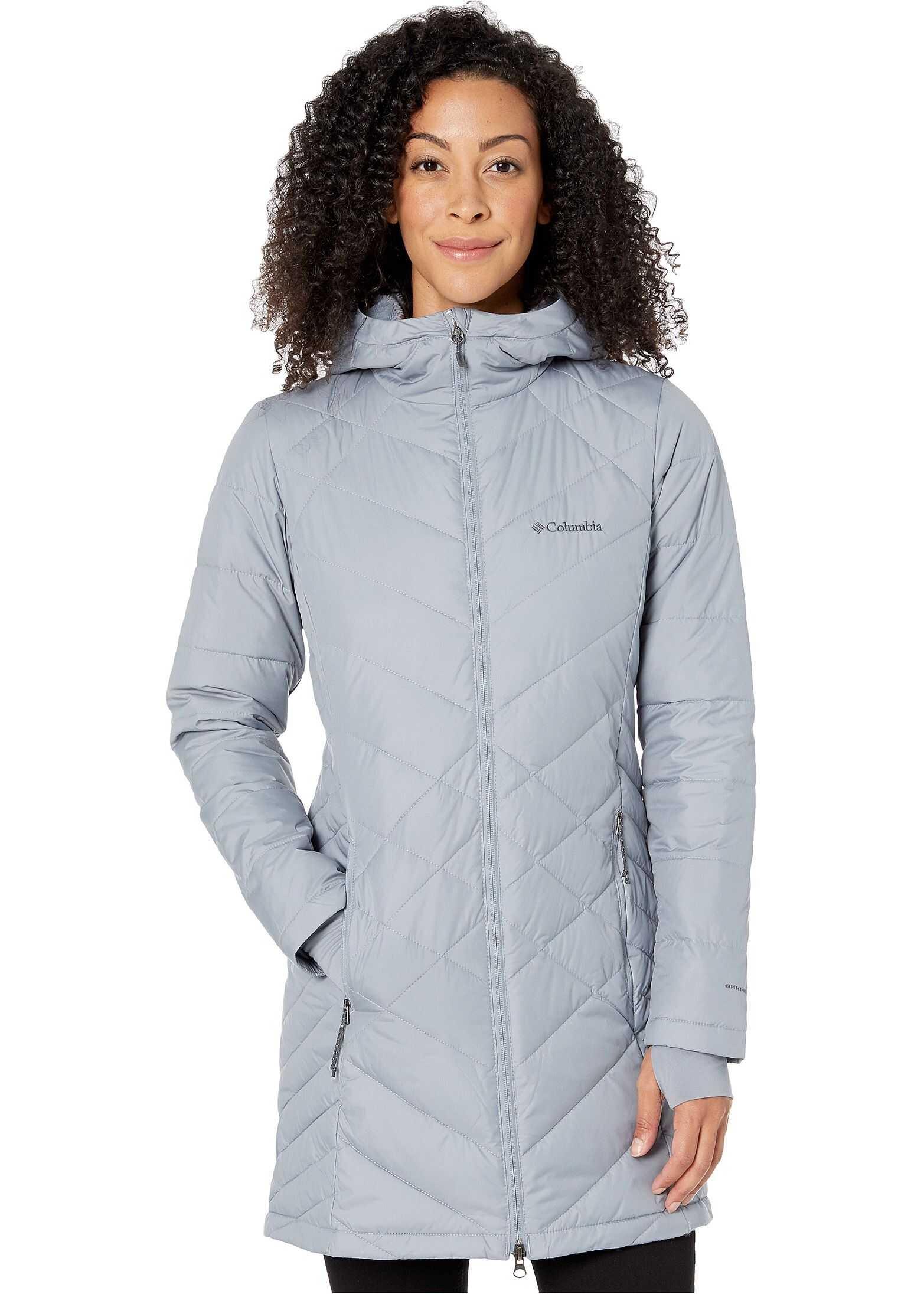 Columbia Heavenly Long Hooded Jacket Tradewinds Grey