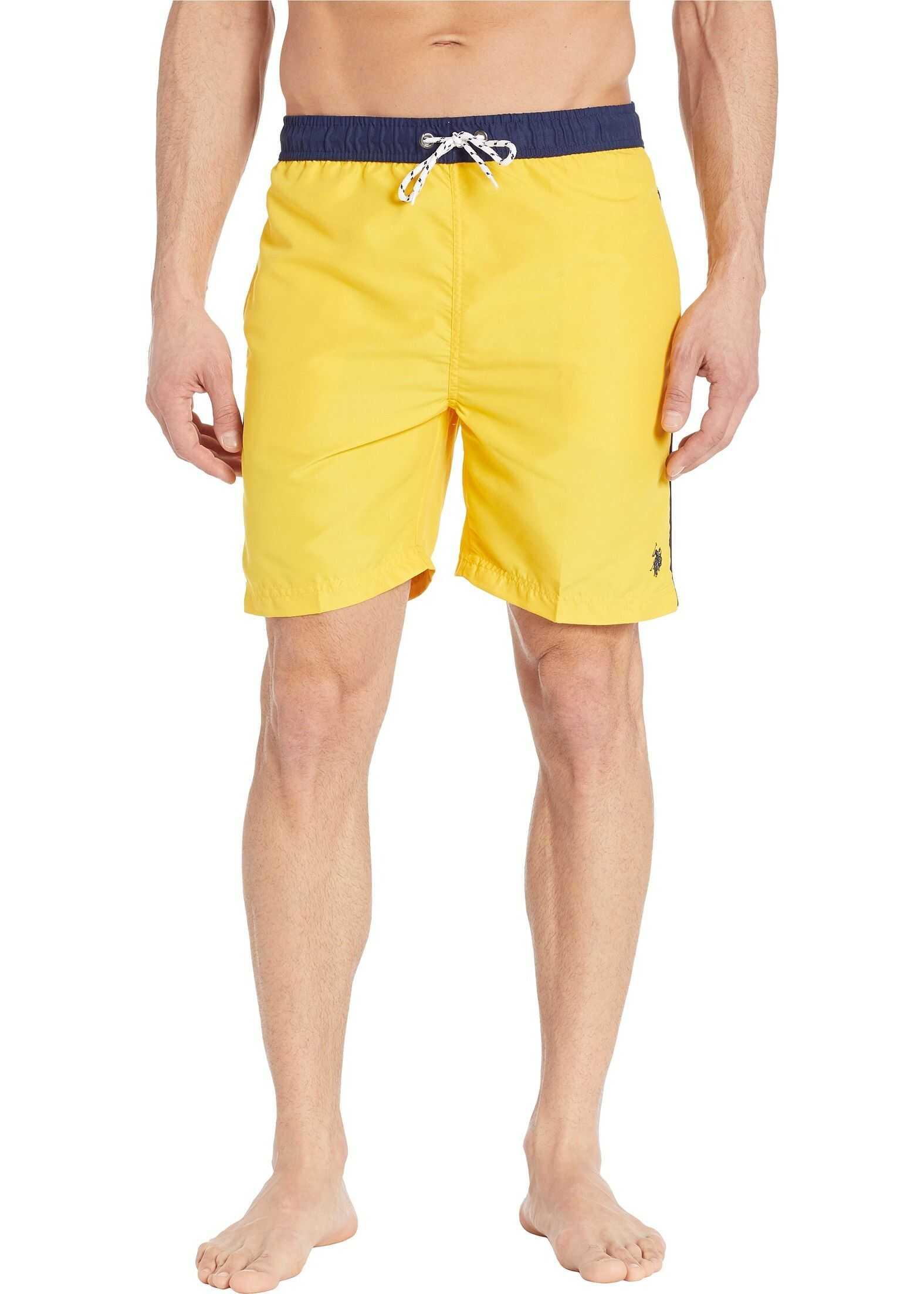 U.S. POLO ASSN. Contrast Waistband Swim Shorts Cape Yellow