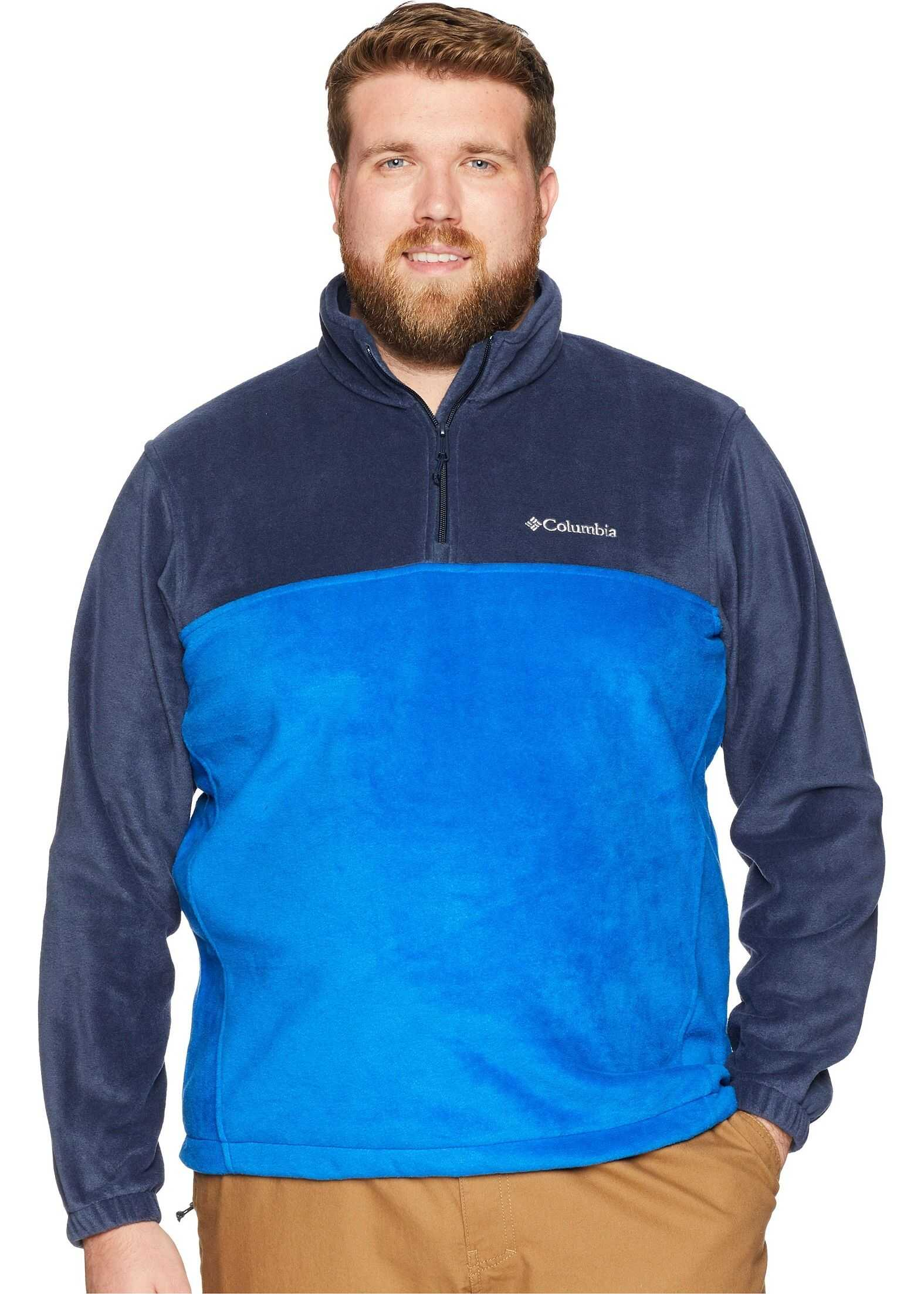 Columbia Big & Tall Steens Mountain™ 1/2 Zip Collegiate Navy/Azul