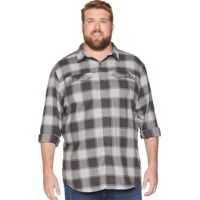 Camasi casual Big & Tall Silver Ridge™ Flannel Long Sleeve Shirt Barbati