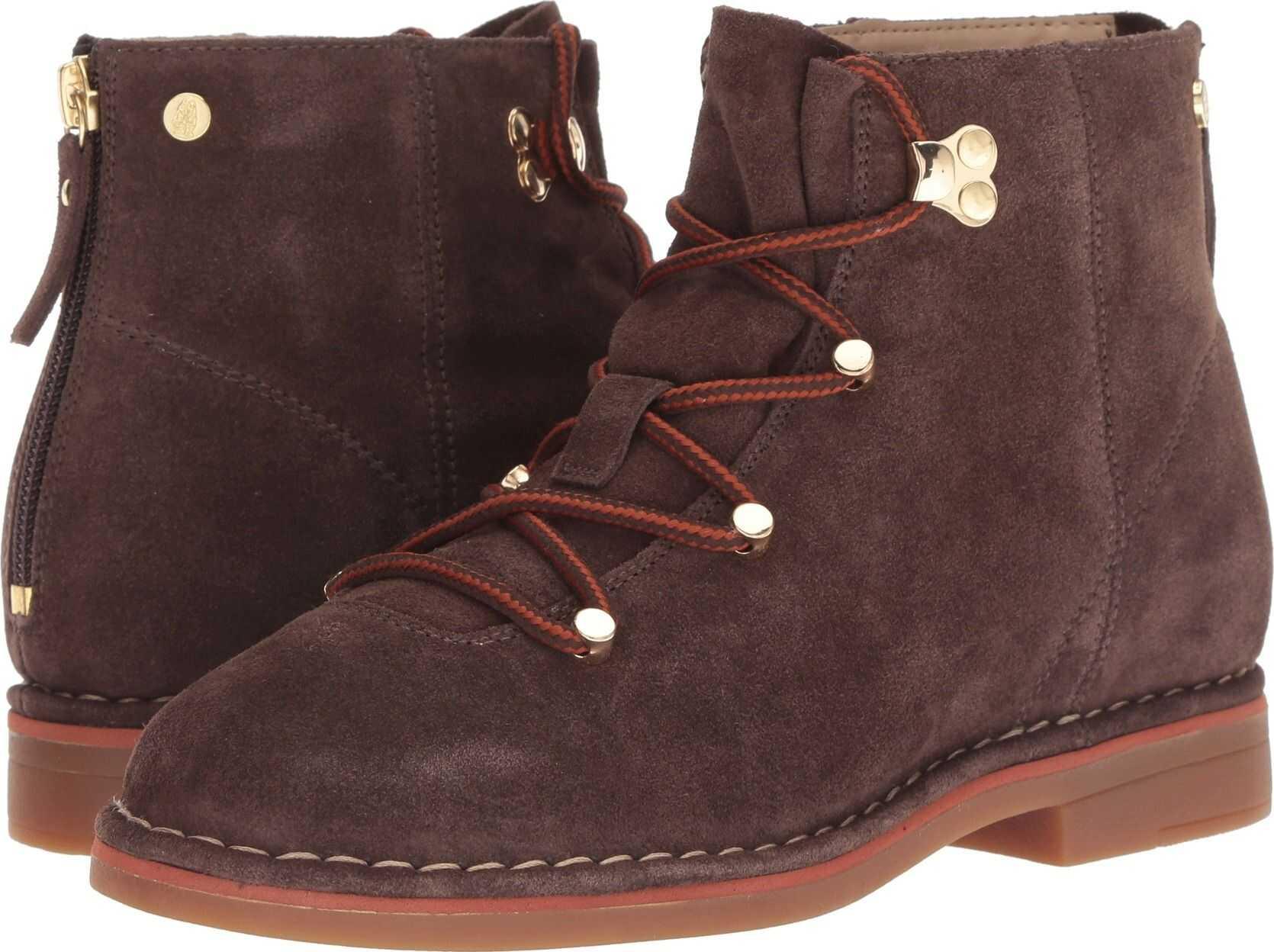 Hush Puppies Catelyn Hiker Boot Dark Brown Suede