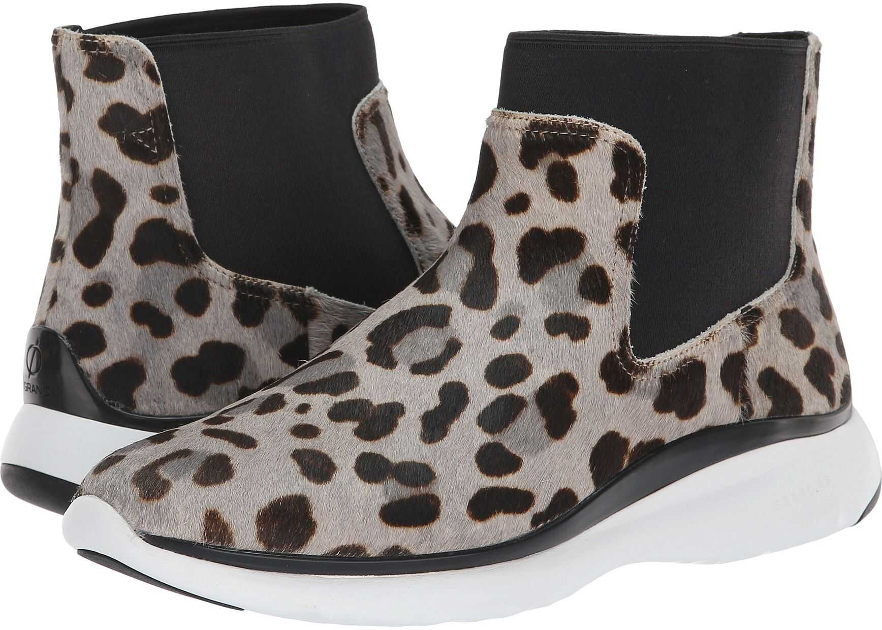 Cole Haan 3.Zerogrand Chelsea Waterproof Bootie Ocelot Haircalf/Black