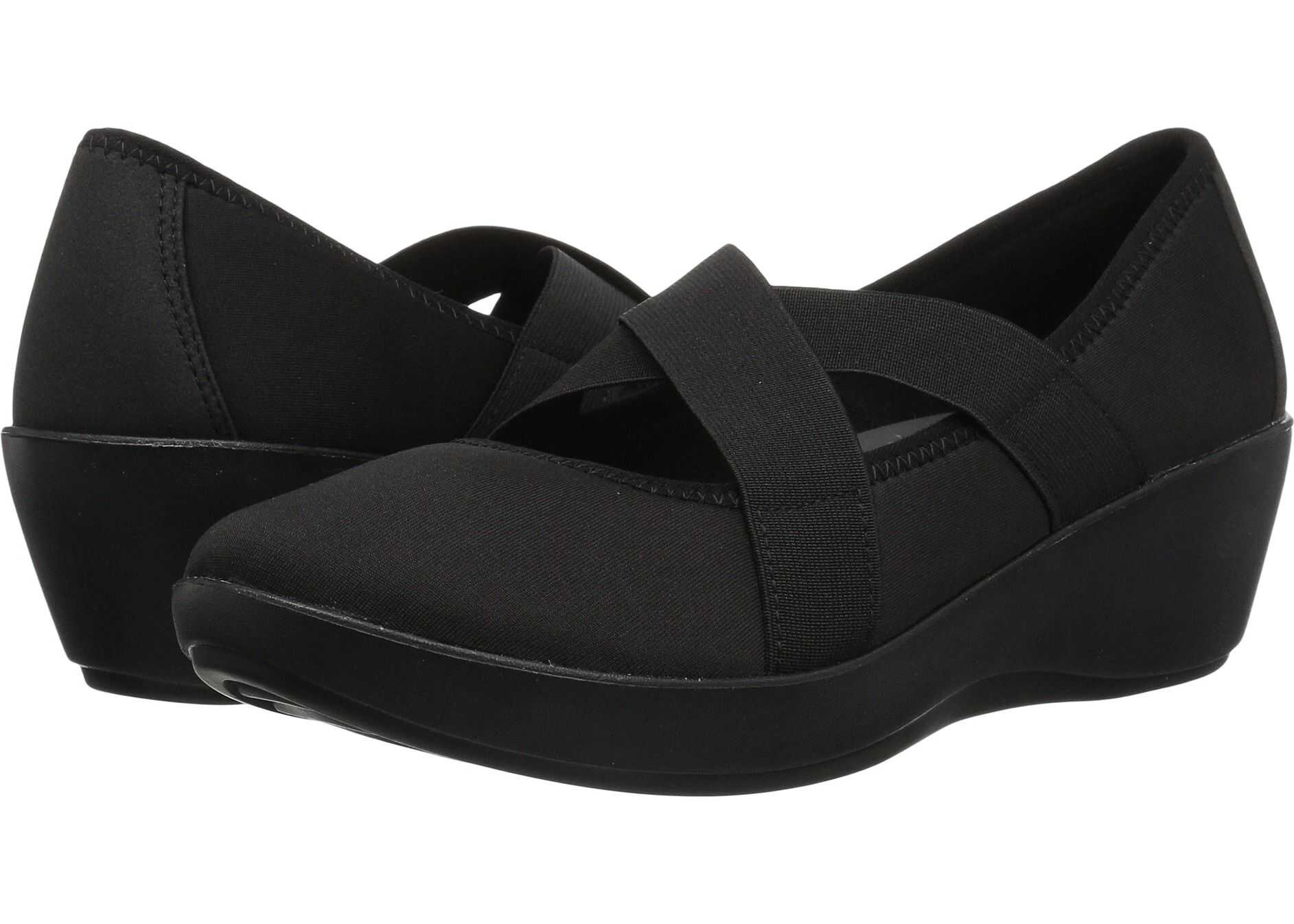 Crocs Busy Day Strappy Wedge Black/Black