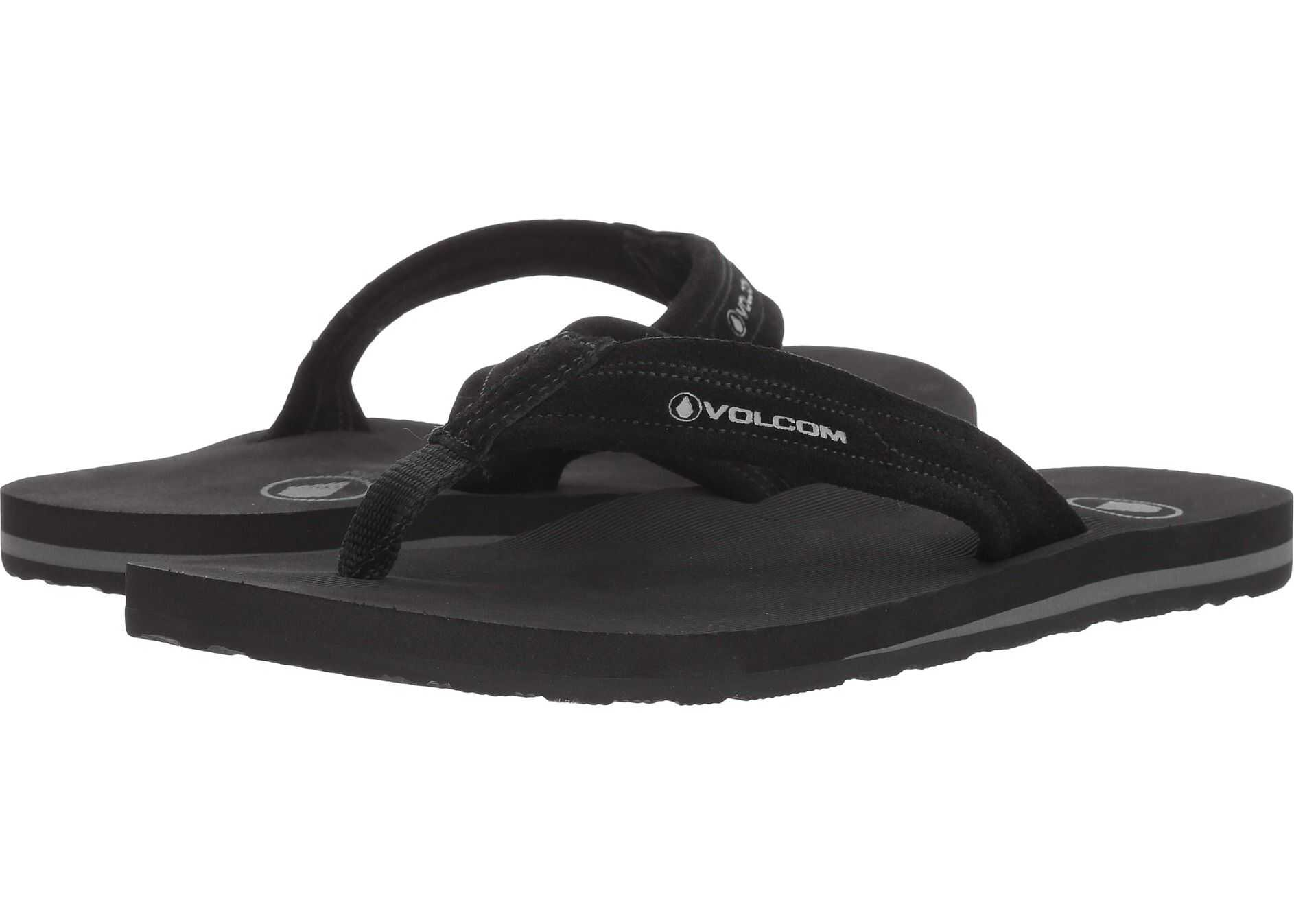Volcom Driftin Leather Sandal Black