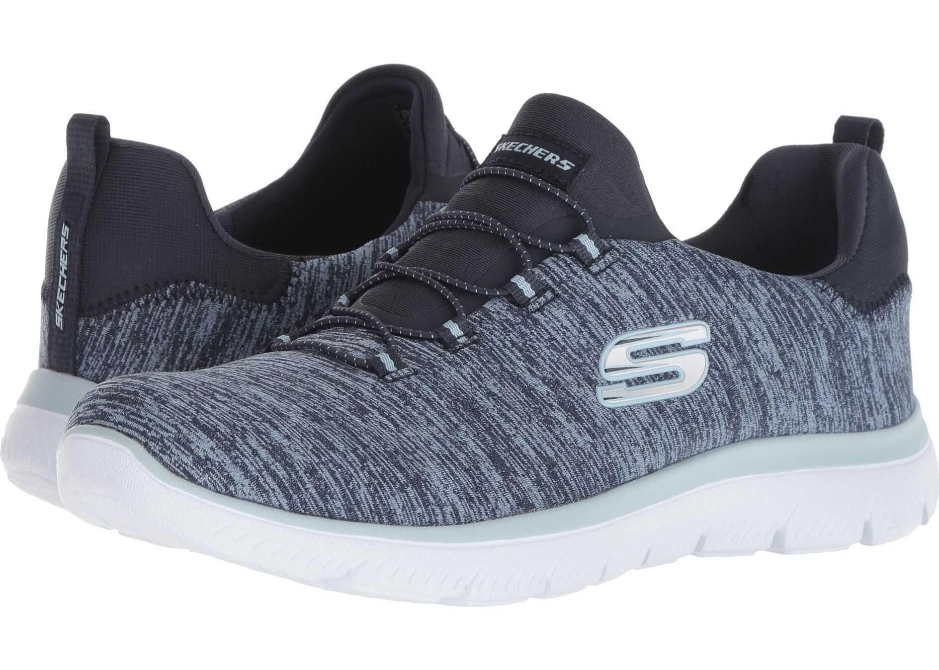 SKECHERS Summit - Quick Getaway Navy/Light Blue
