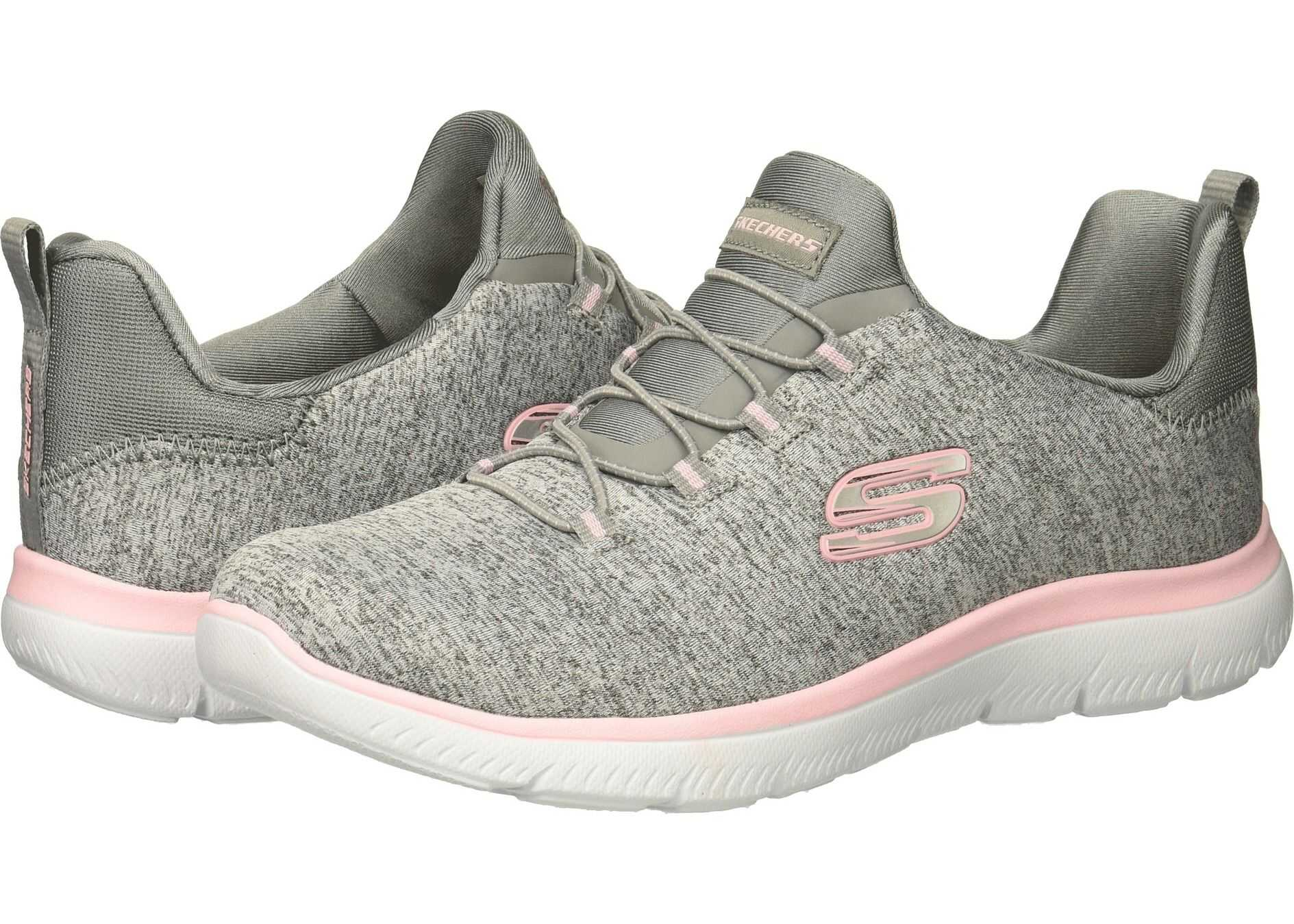 SKECHERS Summit - Quick Getaway Grey/Light Pink