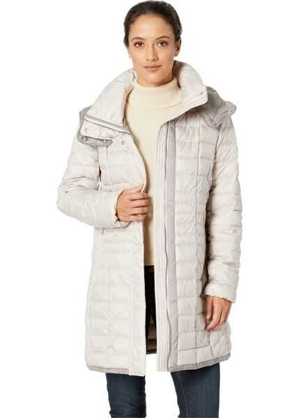 Geci Dama Marc New York by Andrew Marc Marble Packable Puffer with Detachable Hood