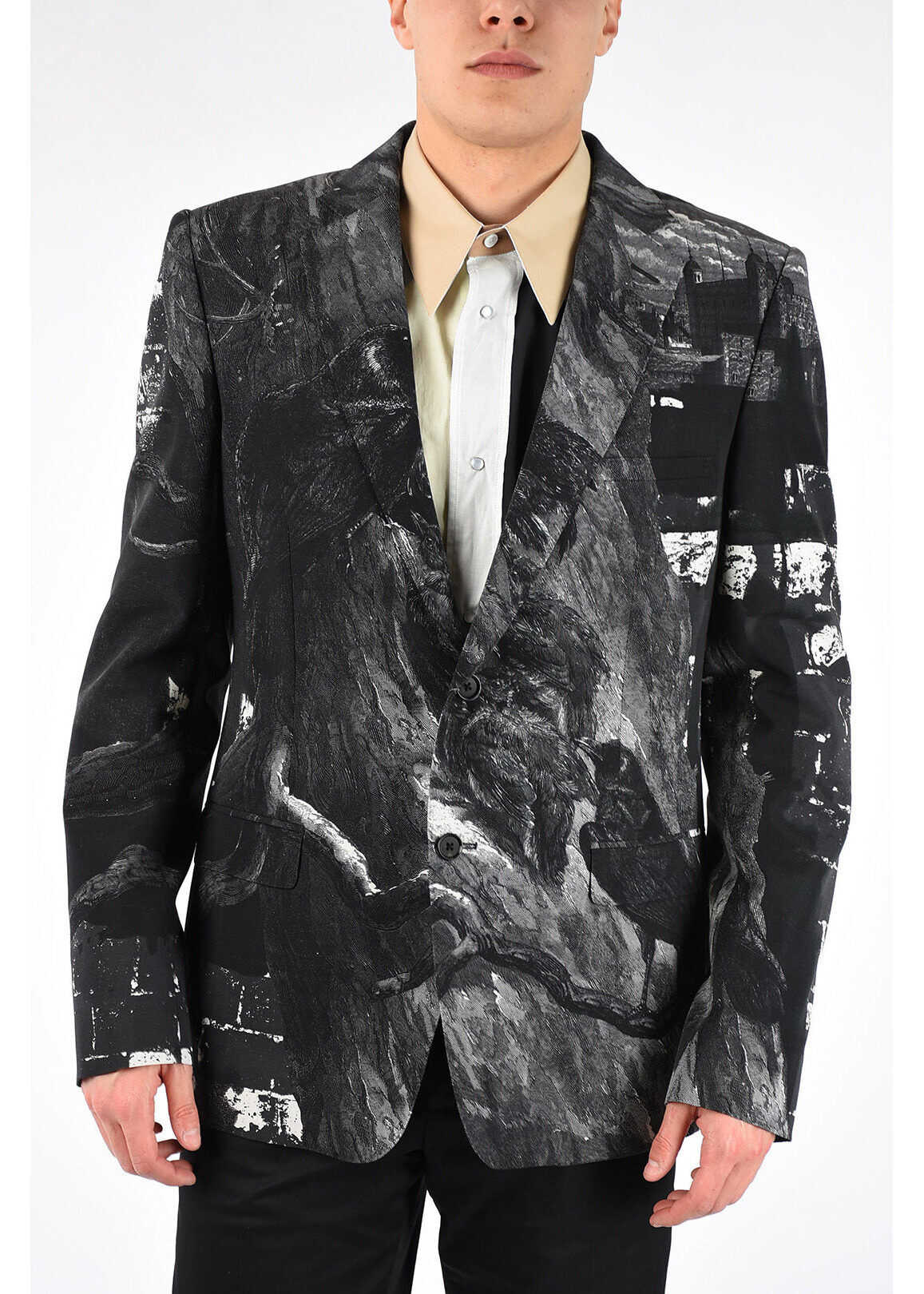 Alexander McQueen Virgin Wool Blend Blazer BLACK