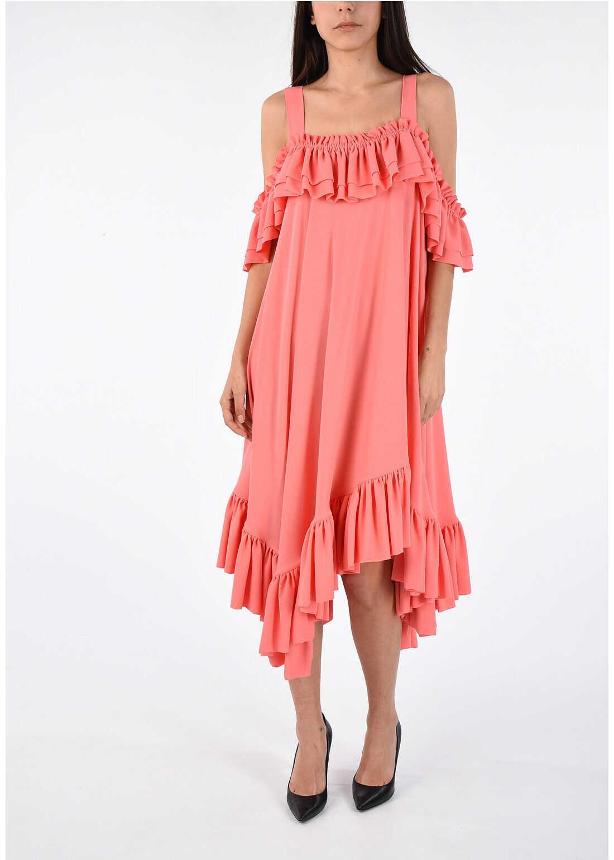 Alexander McQueen Silk Pleated Dress PINK