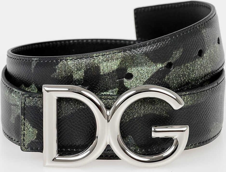 Dolce & Gabbana 35mm Camouflage Belt N/A