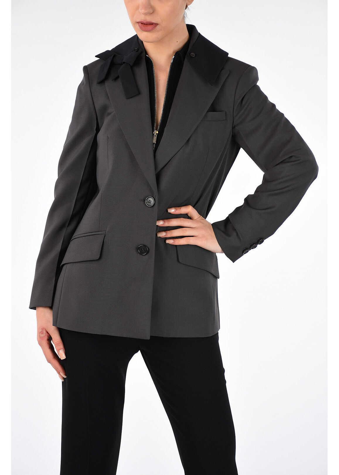 Miu Miu Wool Jacket DARK GRAY