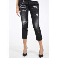 Blugi DSQUARED2 16cm Stretchy Cotton COOL GIRL CROPPED Jeans*