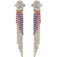 Cercei Statement Casted Stone Fringe Post Earrings Femei