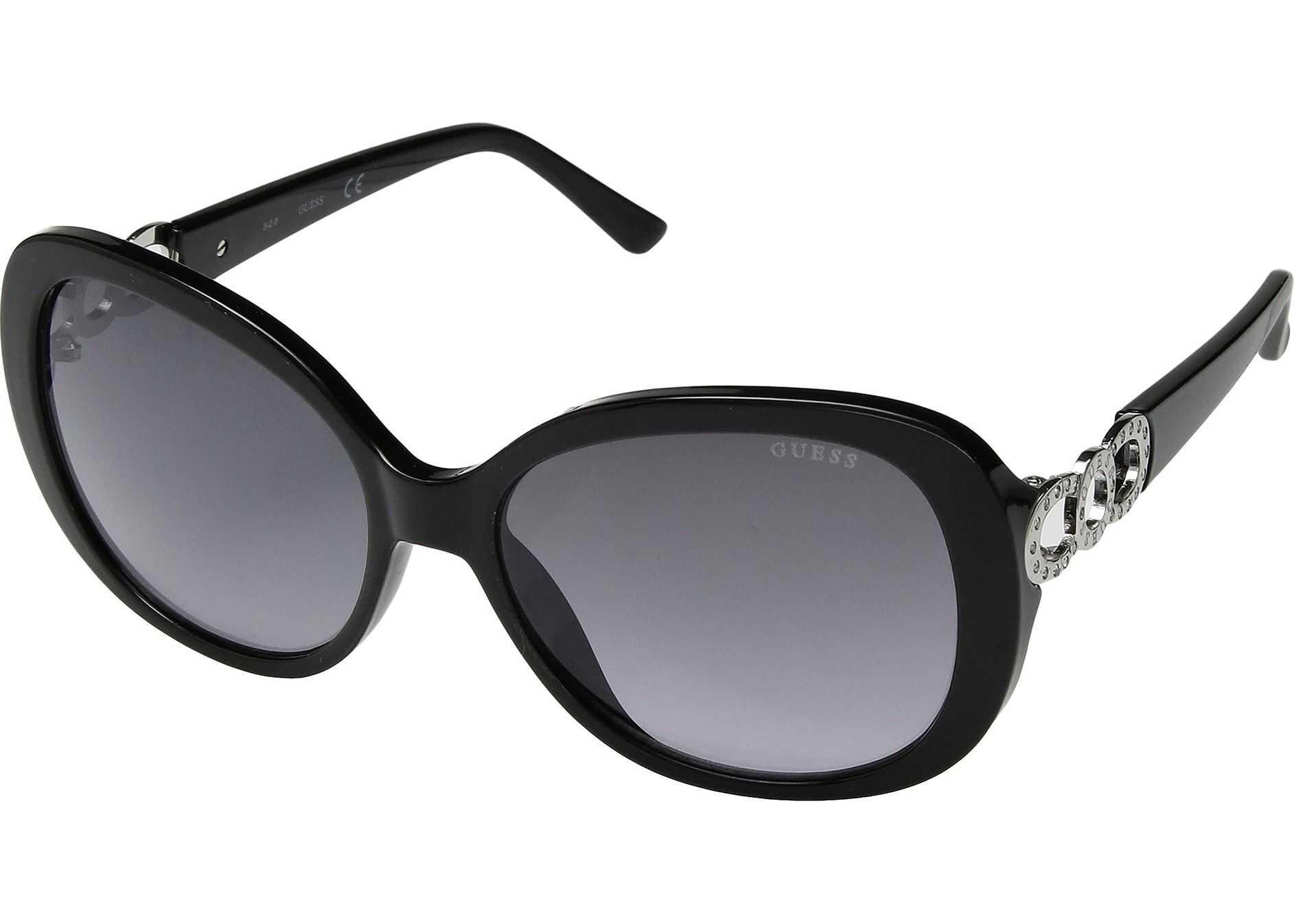 GUESS GF6083 Shiny Black/Smoke Gradient with Light Flash Lens