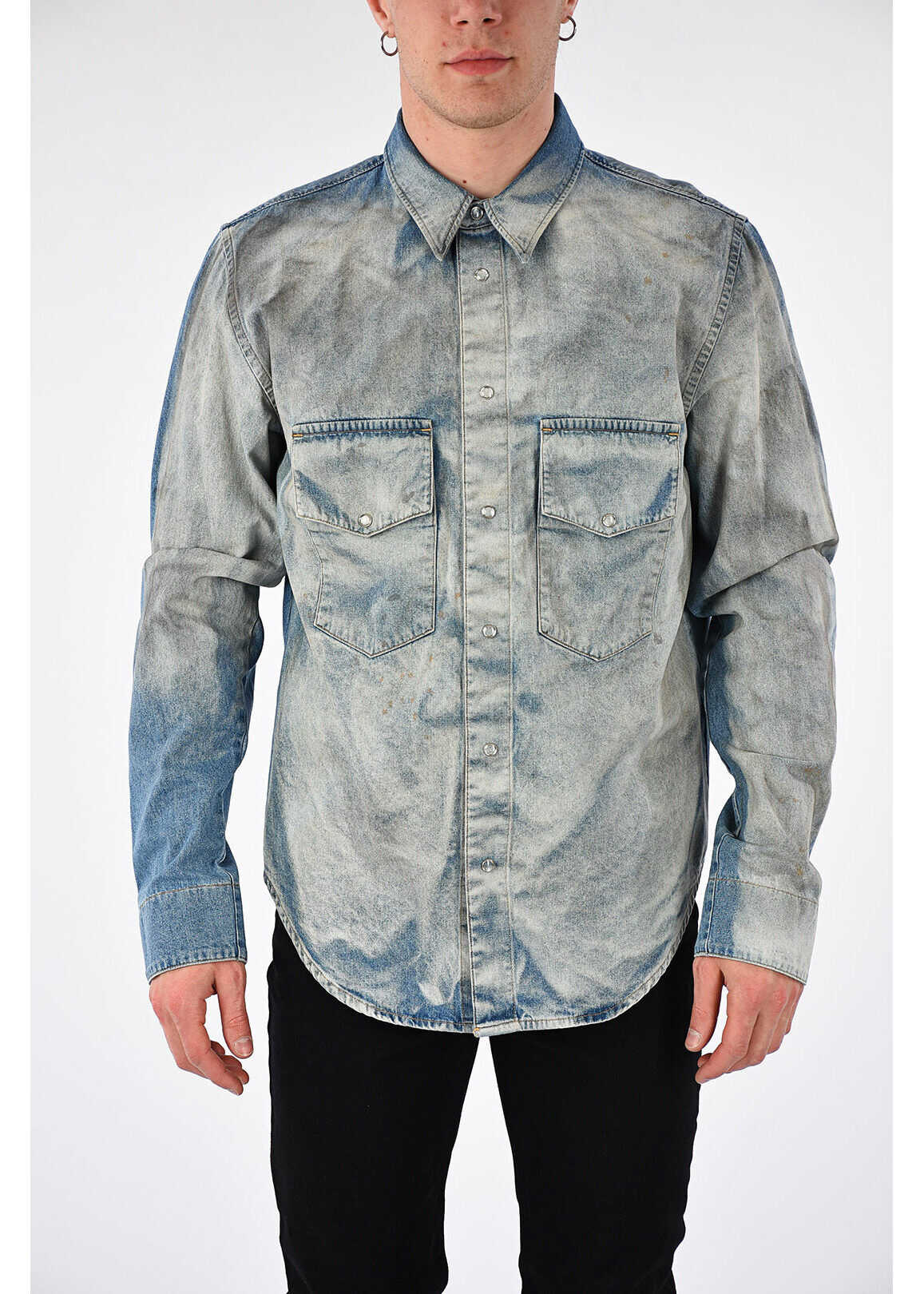 Golden Goose Denim ROWDY Shirt LIGHT BLUE