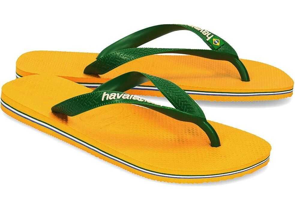 Havaianas Brasil Logo Żółty