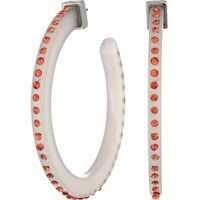 Cercei Dotted Acrylic C Hoop Post Earrings Femei