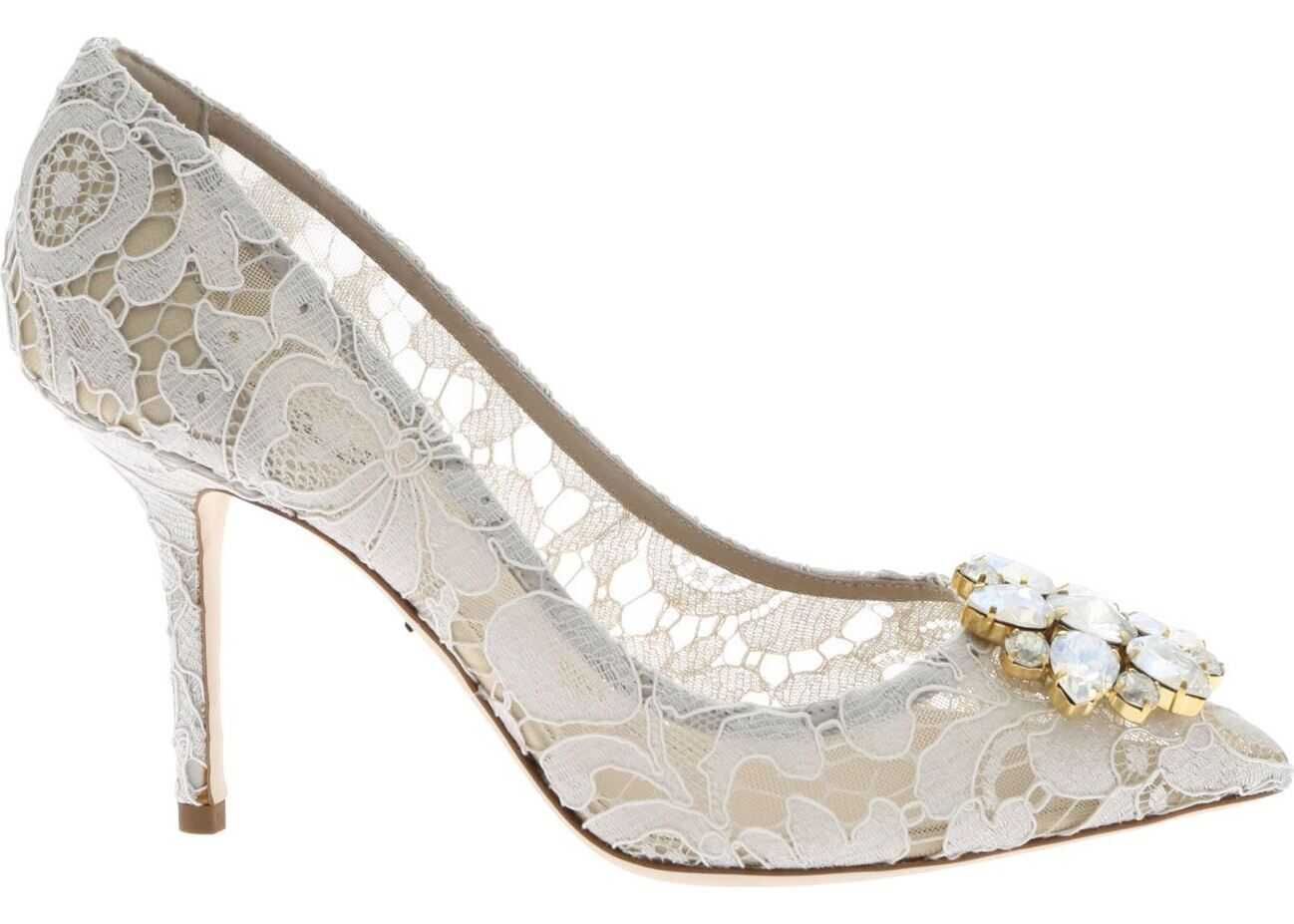Dolce & Gabbana Pumps In White Taormina Lace White