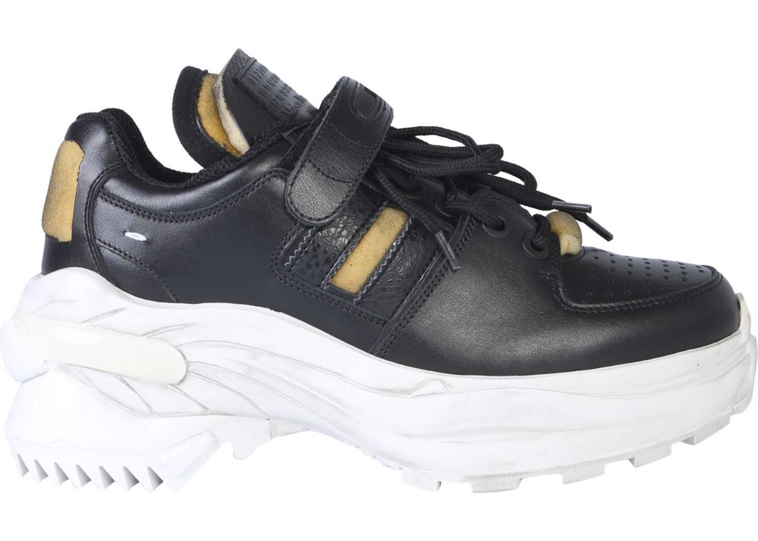 Maison Margiela Low-Top Retro Fit Sneakers BLACK