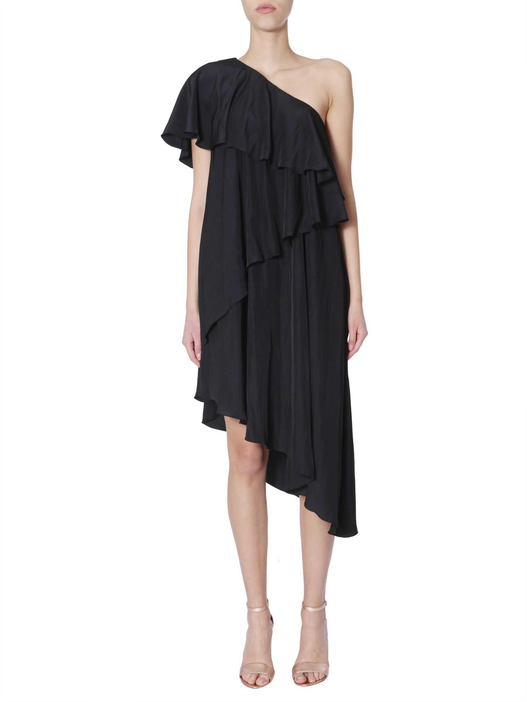 Lanvin Asymmetrical Dress RW-DR200U_2638-P1910 BLACK image0