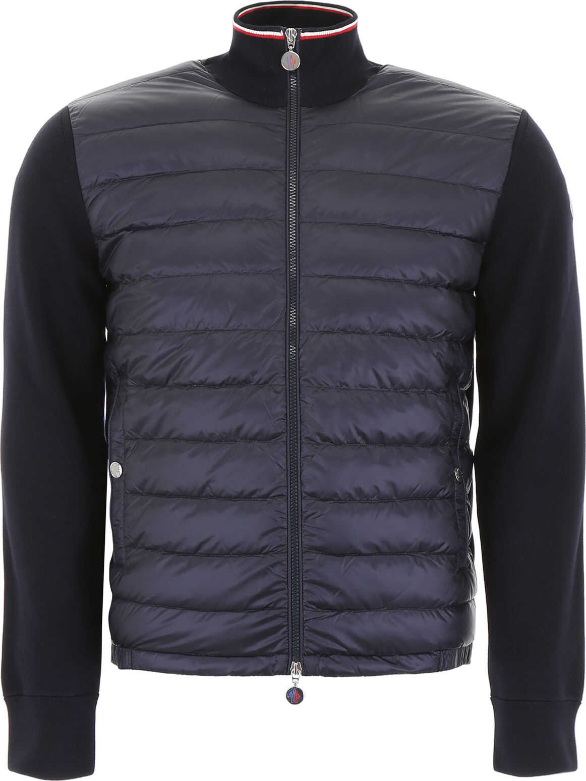 Moncler Cardigan With Padding NAVY