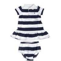 Trusouri Baby Girl Set In White And Blue Fete