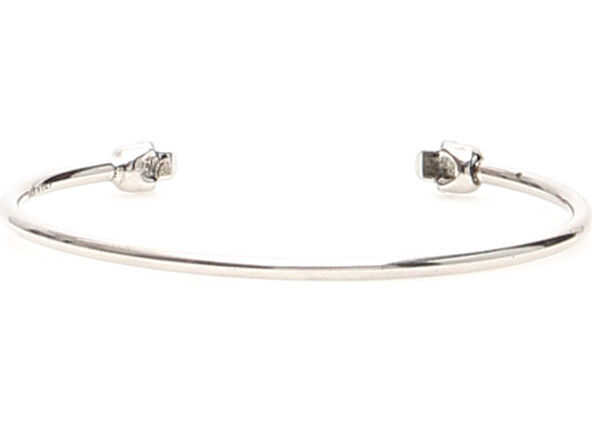 Alexander McQueen Double Skull Bracelet SILVER