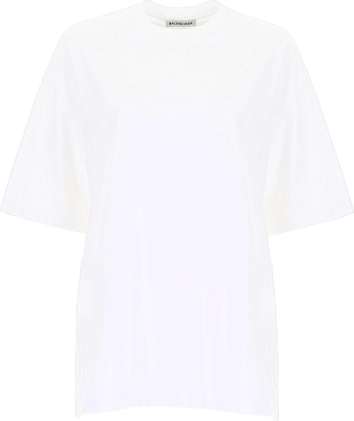 Balenciaga Gothic Logo T-Shirt OFF WHITE