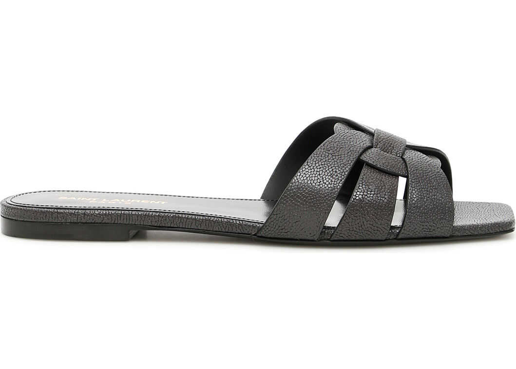 Saint Laurent Nu Pieds Slides ANTHRACITE