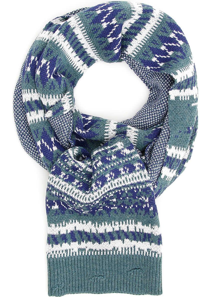 Balenciaga Multicolor Jacquard Scarf MULTICOLOR BLUE
