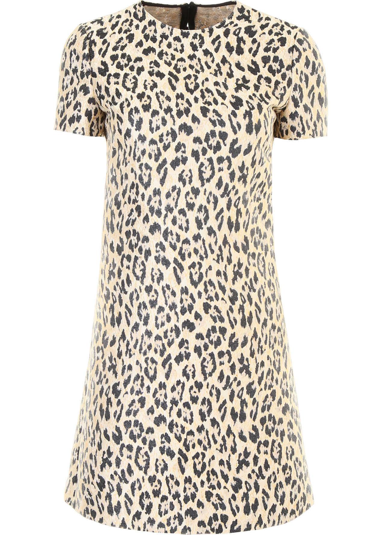 Valentino Garavani Leopard Mini Dress WILD LEOPARD