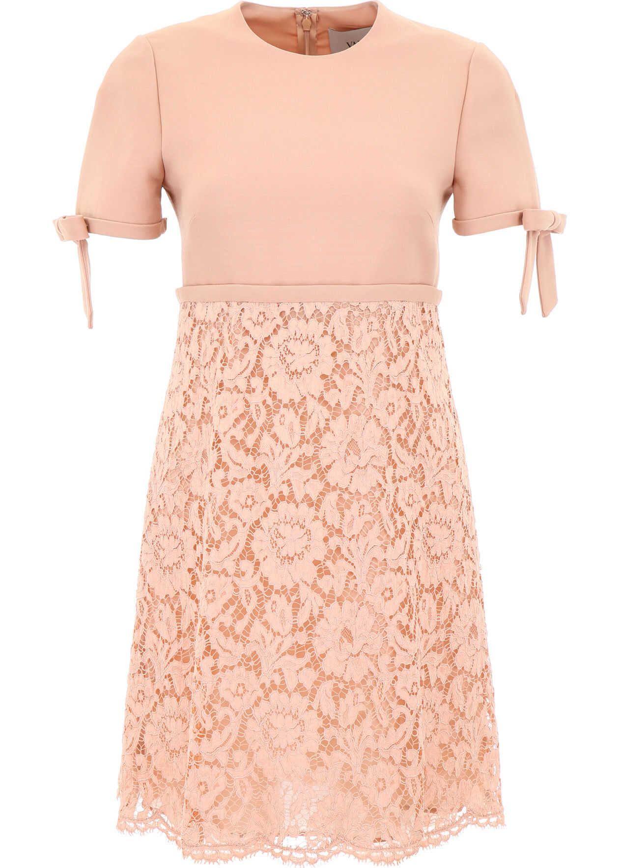 Valentino Garavani Lace Mini Dress ROSE MIST