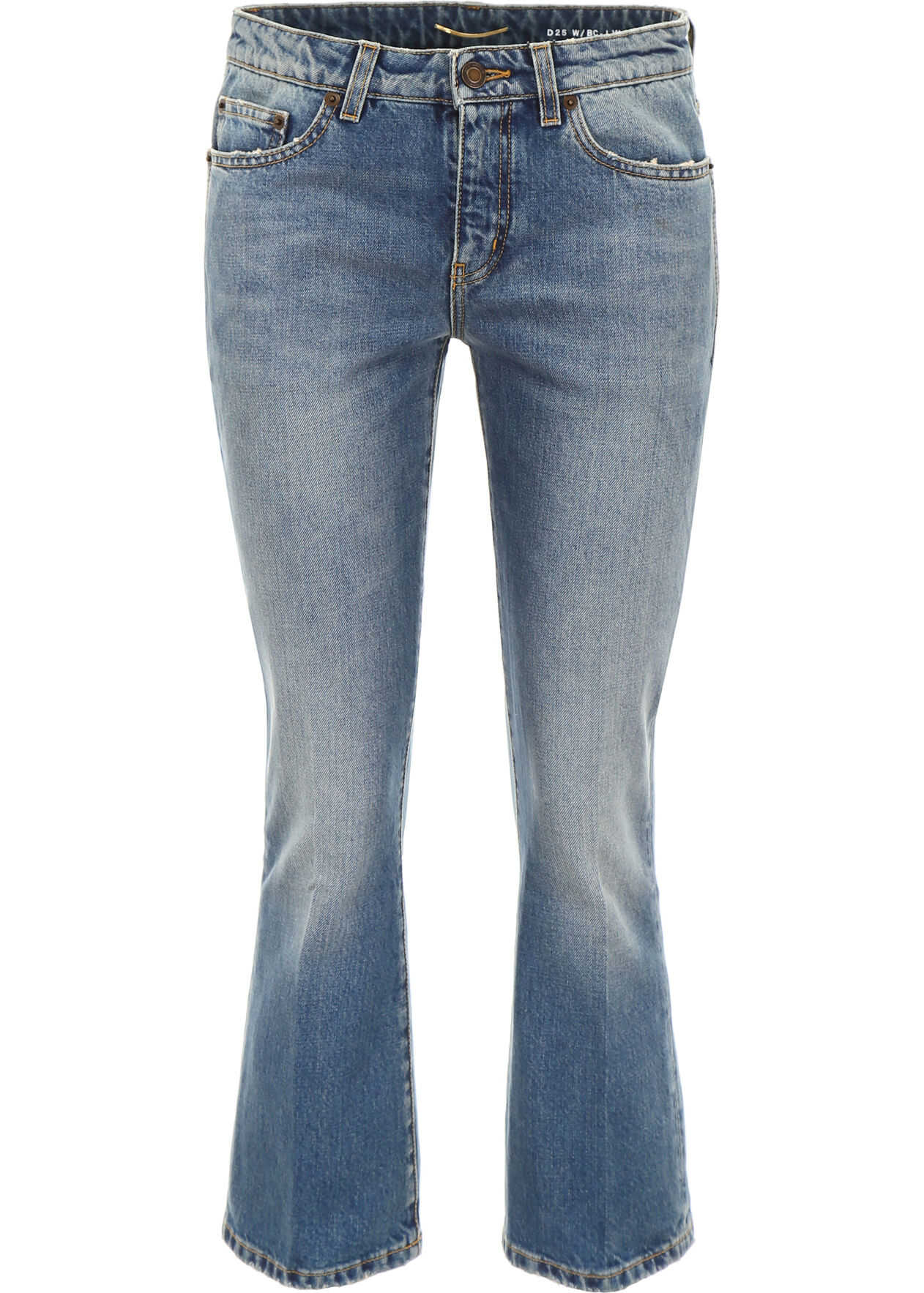 Saint Laurent Vintage Wash Flare Jeans USED 70S BLUE
