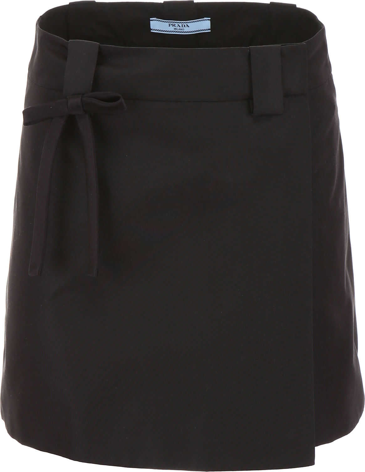 Prada Mini Skirt With Bow NERO NERO