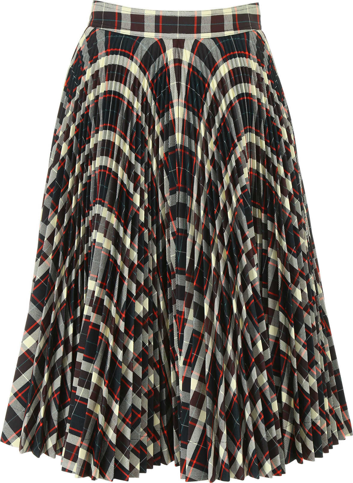 Calvin Klein 205W39NYC Pleated Check Skirt MARRONE CHIARO PASTELLO