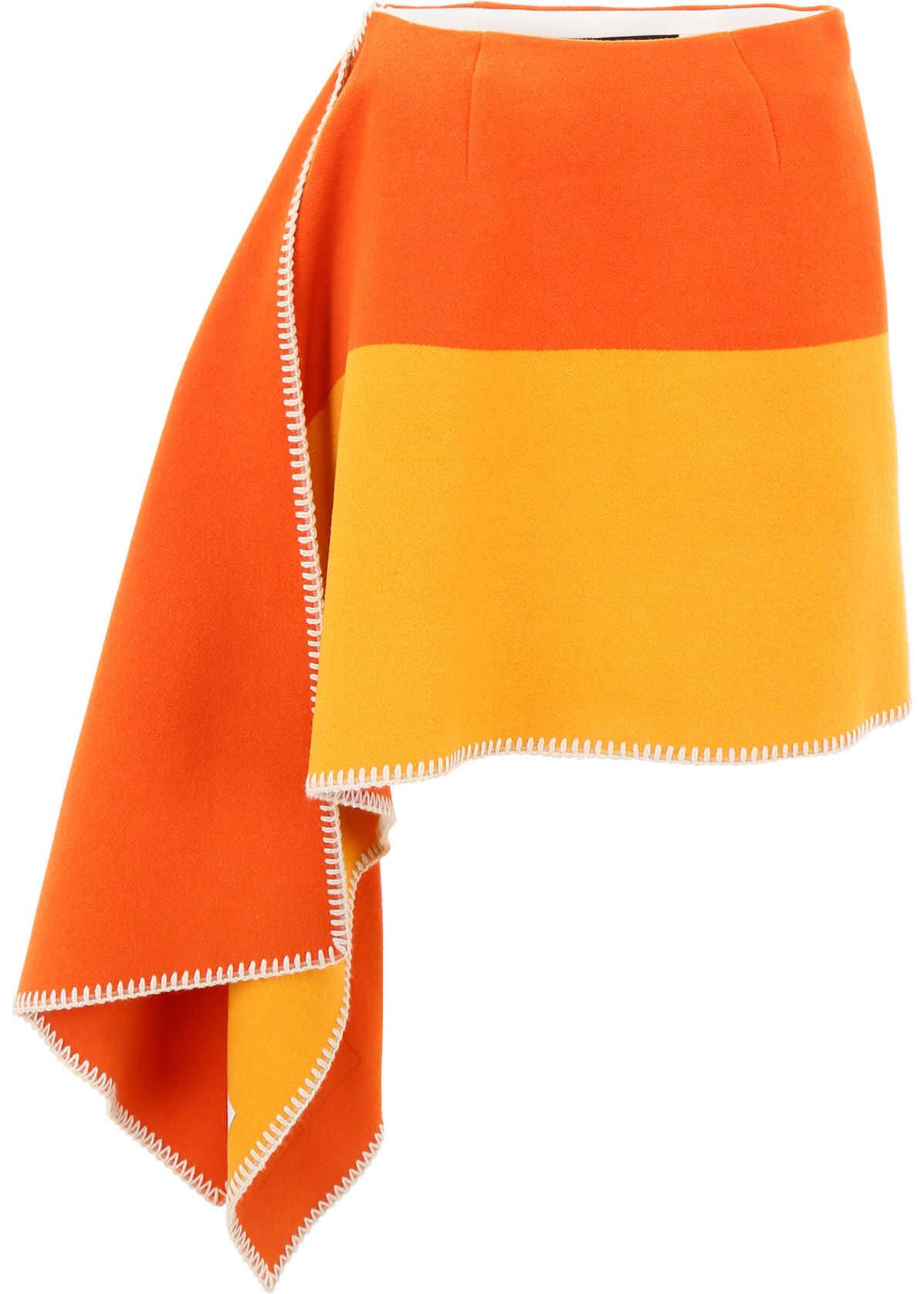Calvin Klein 205W39NYC Pendleton Skirt ARANCIO