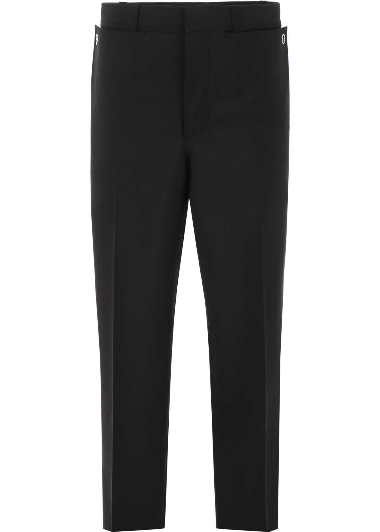 Burberry Wool And Mohair Trousers BLACK