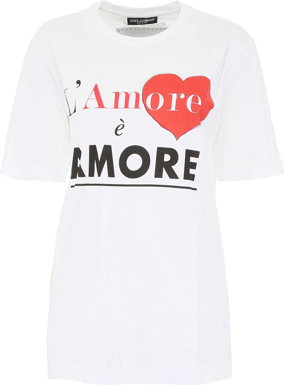Dolce & Gabbana L`amore È Amore T-Shirt BIANCO OTTICO