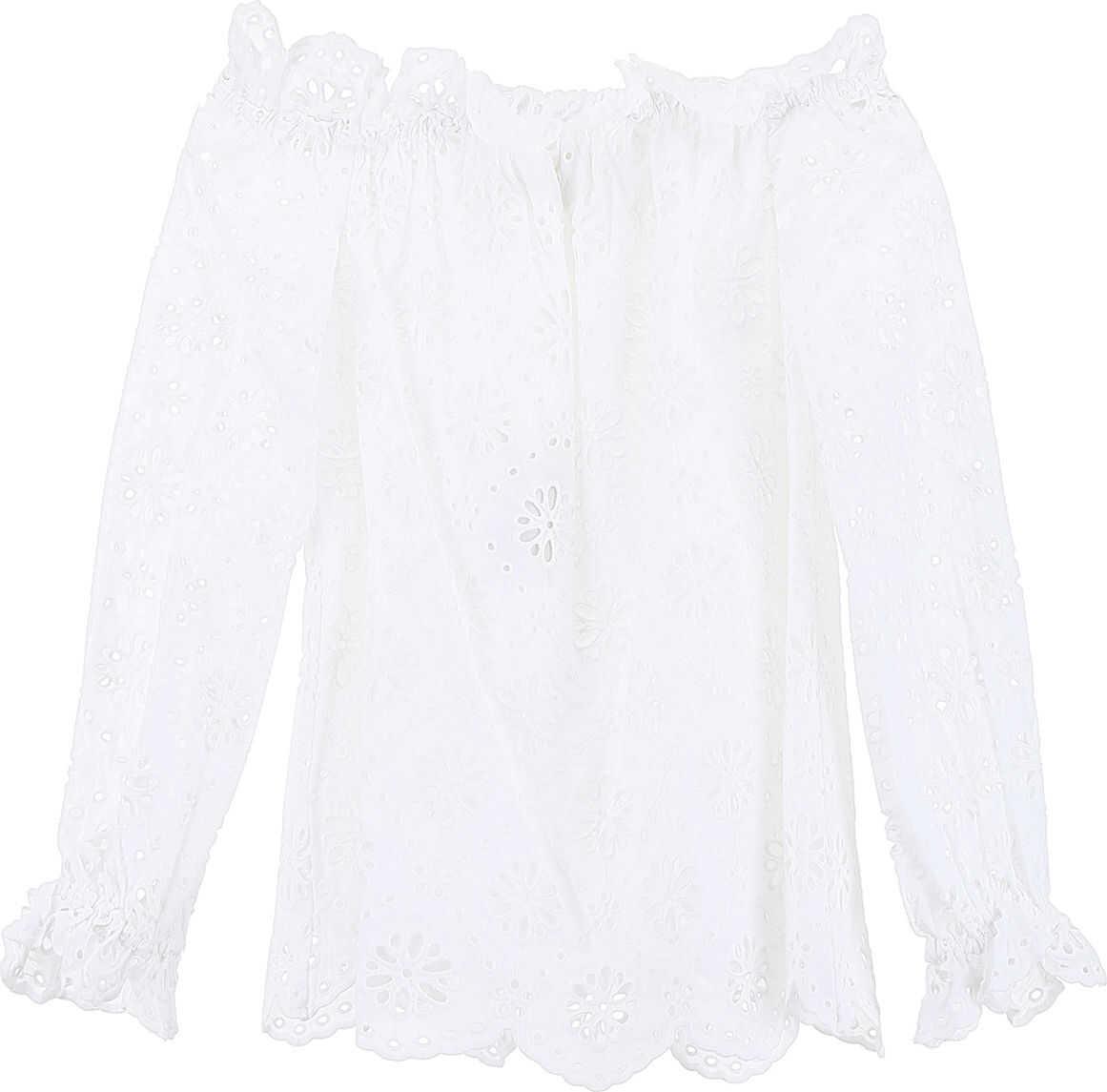 Michael Kors Sangallo Lace Blouse WHITE