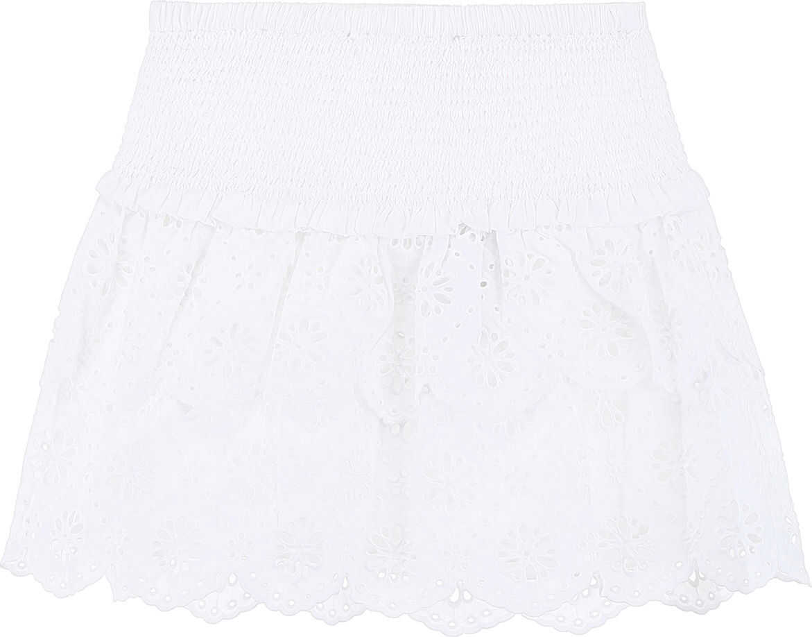 Michael Kors Sangallo Lace Skirt WHITE