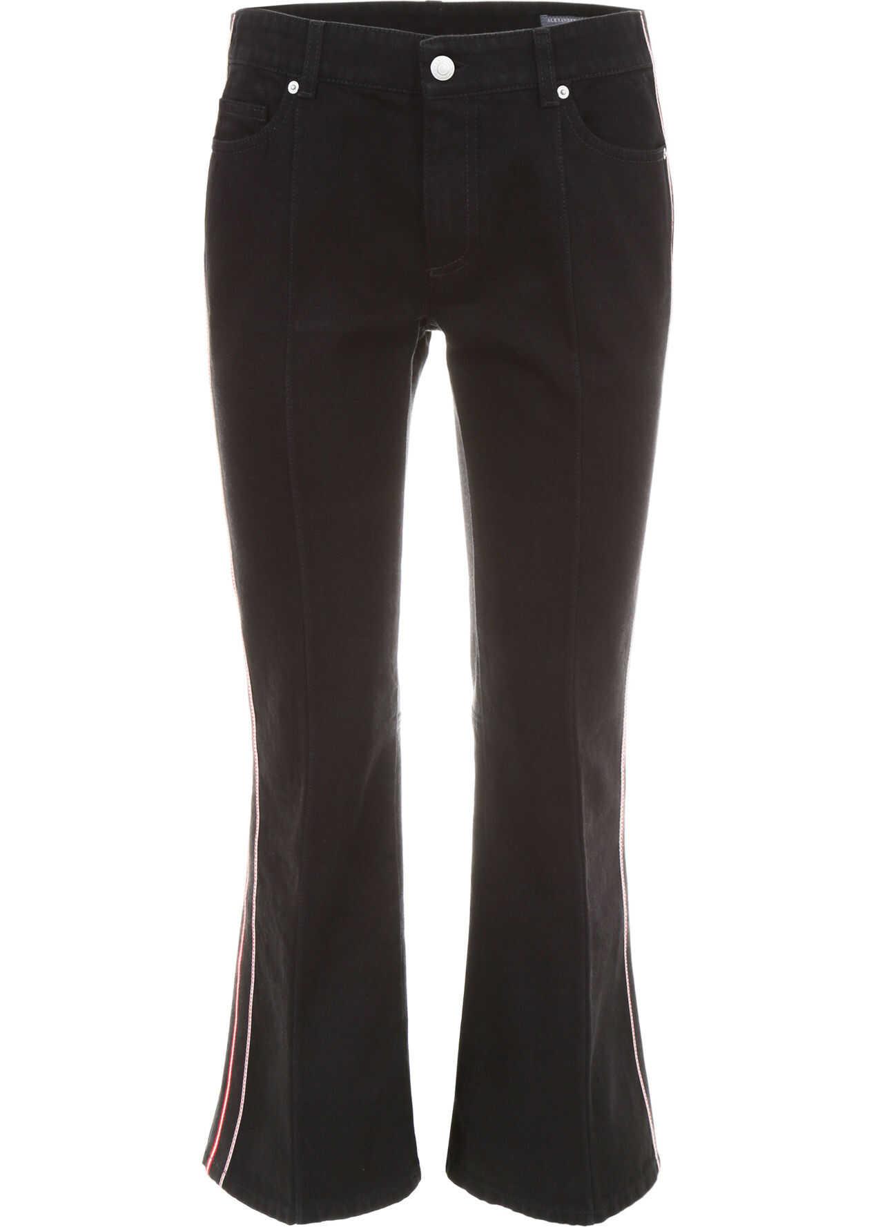 Alexander McQueen Kick-Flare Jeans BLACK