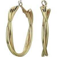 Cercei Wrapped Spiral Post Clip Hoop Earrings Femei