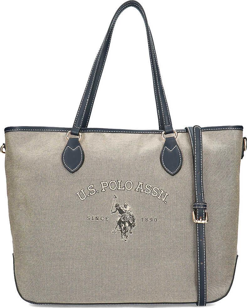 U.S. POLO ASSN. Virginia Shopping Bag Beżowy