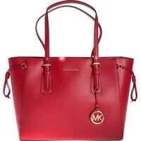 Genti de mana Medium Voyager Tote Bag In Red Leather Femei
