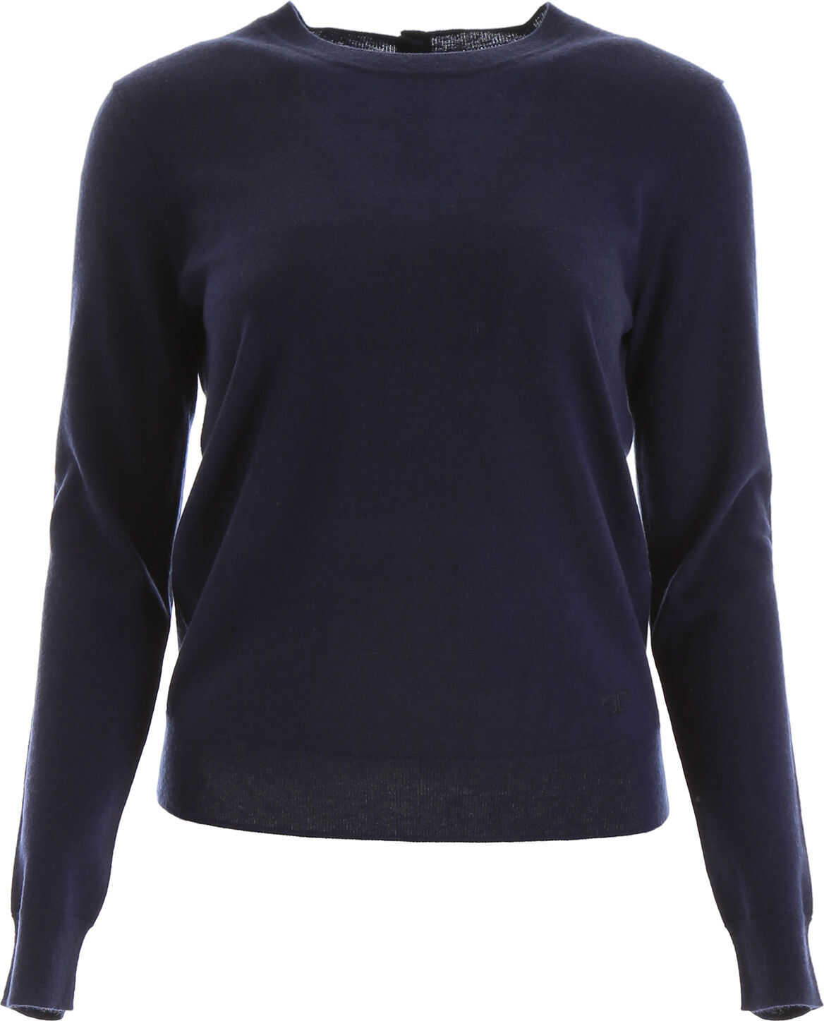 Tory Burch Buttoned Cashmere Pull MEDIUM NAVY