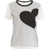 Tricouri RED VALENTINO Plumetis T-Shirt With Heart