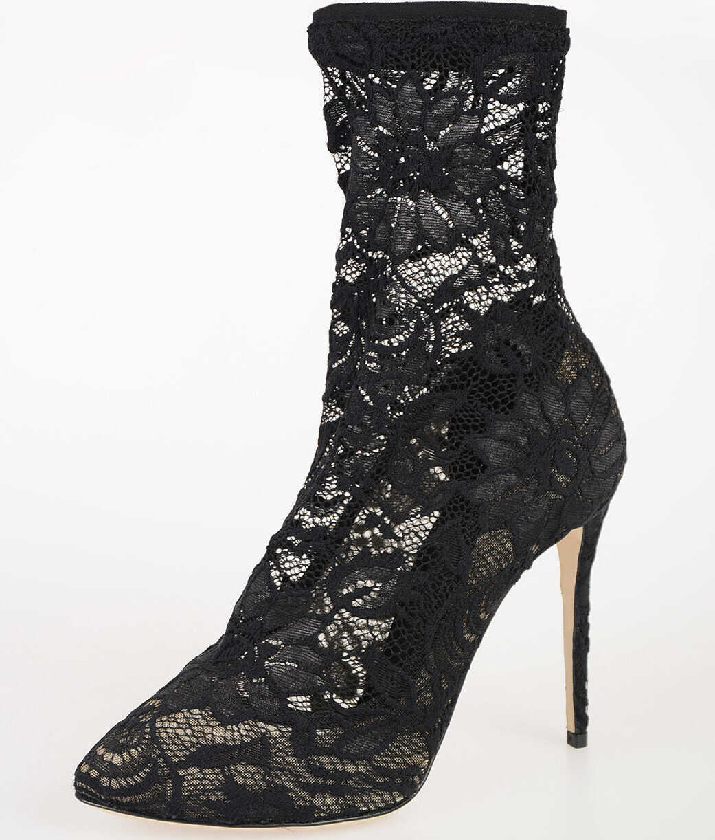 Dolce & Gabbana 11cm Laced Ankle Boots BLACK