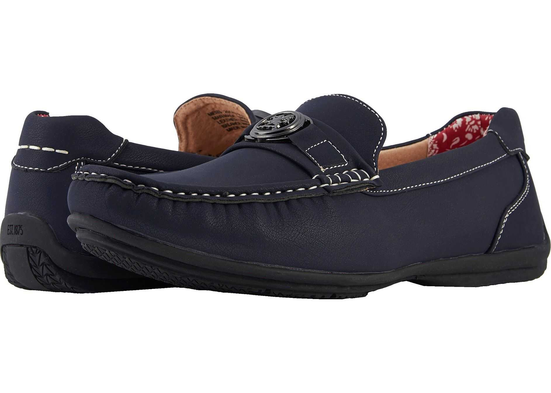Stacy Adams Cyrus Slip On Casual Loafer Navy