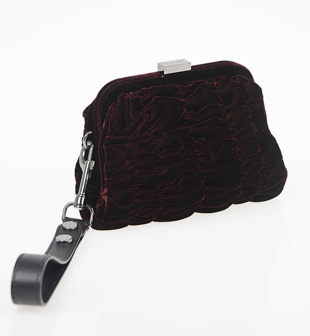 Tom Ford Velvet Handbag with Wristlet RED