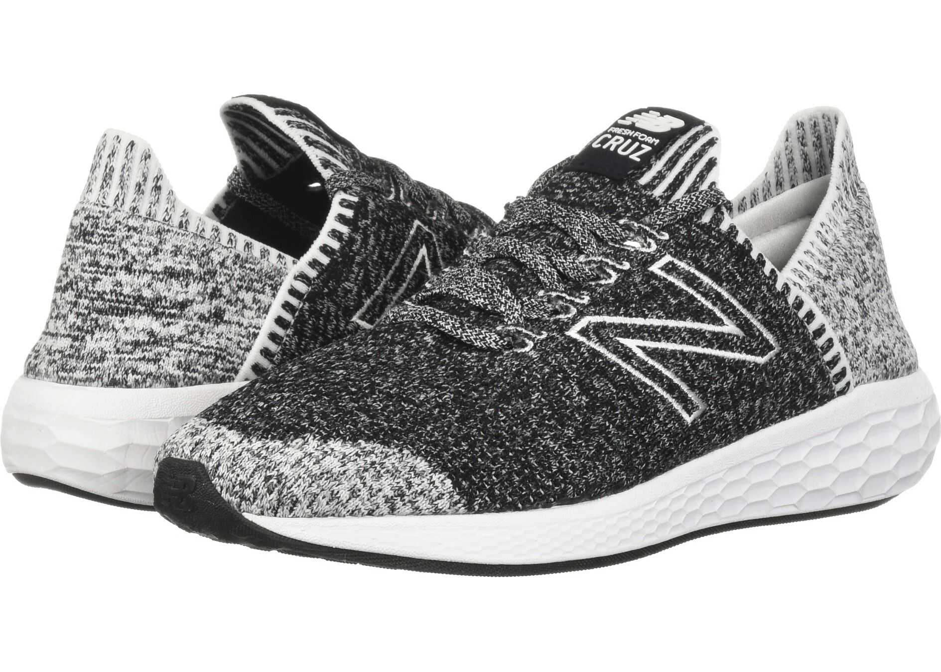New Balance Fresh Foam Cruz v2 Sock Fit Black/White